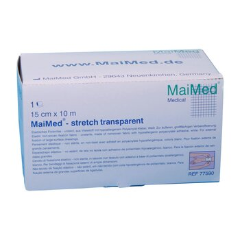 MaiMed stretch transparent Fixierfolie 10 cm x 10 m